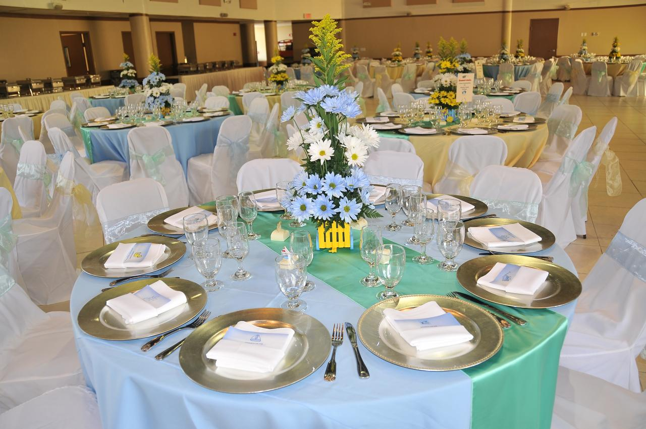 boy baby shower party rentals in miami tables chairs linen