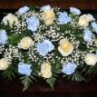 Blue and White Head Table Arrangement